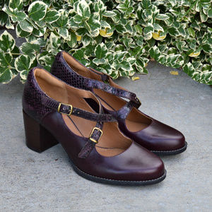 Clarks Artisan Cross Strap Chunky Comfort Heels